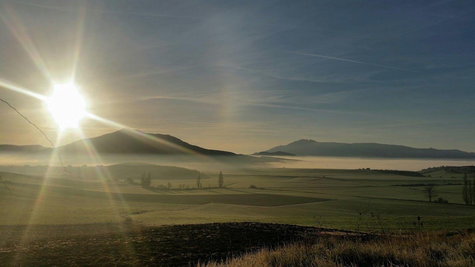 Precioso amanecer en Tierra Estella, #Navarra