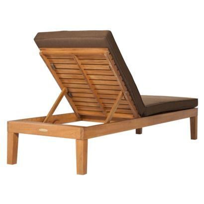 Smith Amp Hawken 174 Brooks Island Wood Patio Chaise Lounge