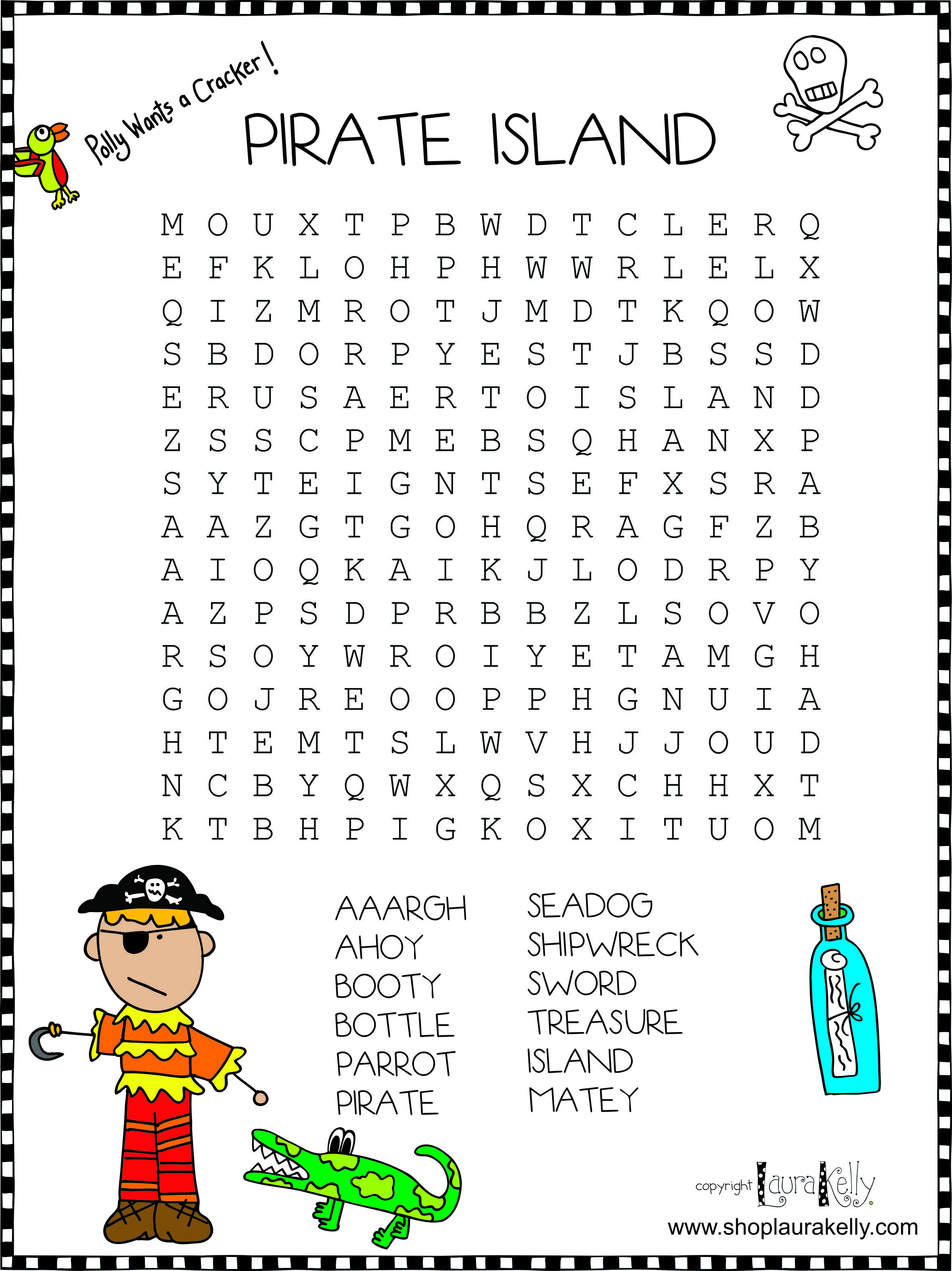 Ahoy Matey Welcome To Pirate Island Pirate Words Pirate Activities Pirate Games For Kids [ 3155 x 2364 Pixel ]