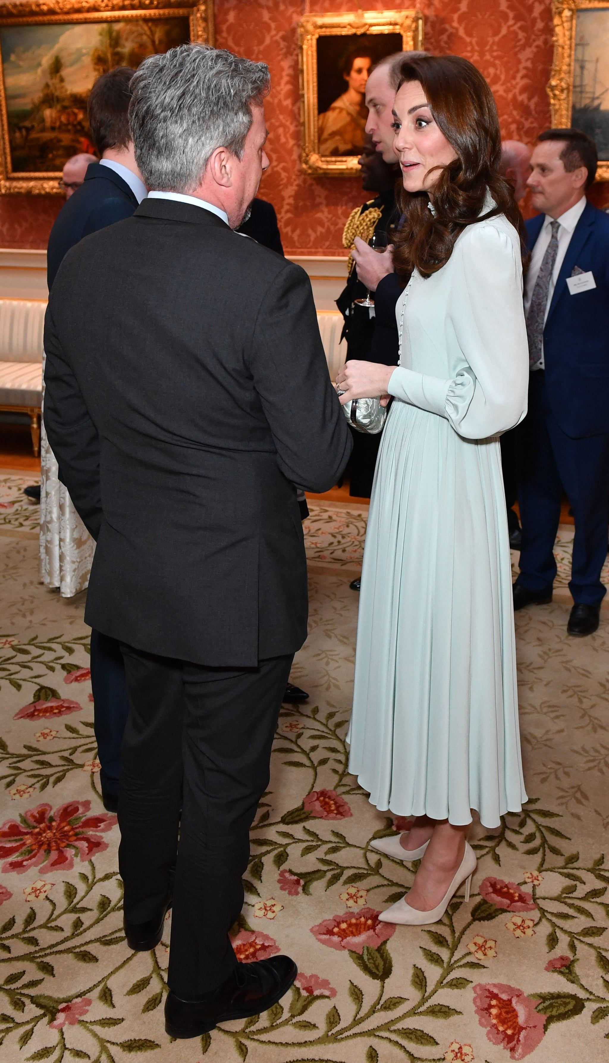 Kate Middleton Puts Her Best Foot Forward In A Modest Midi And Cream Heels Duchess Kate Kate Middleton Style Kate And Meghan