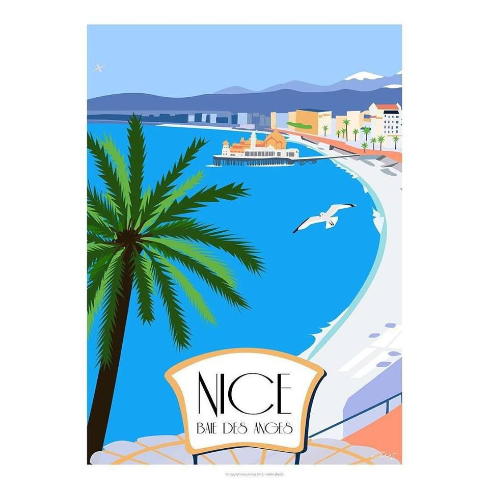 Nice baie des anges castel nice baie des anges baie for Galerie art minimaliste