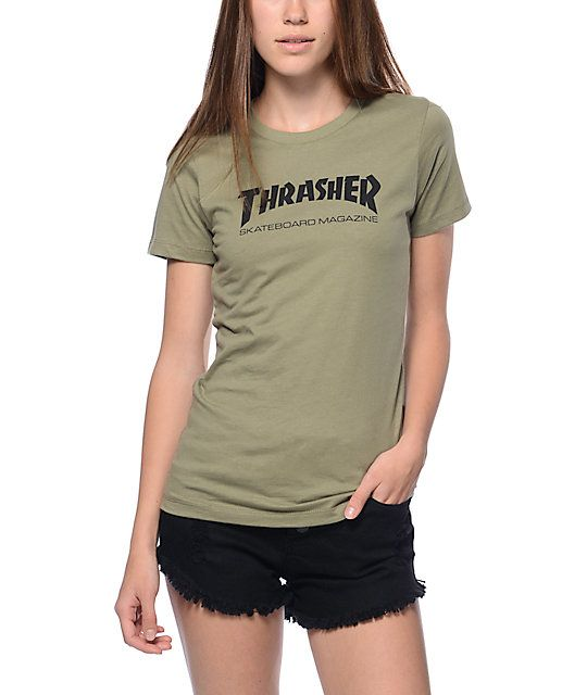 For those hardcore skater girls. Show your skate love with this Skate  Magazine green t