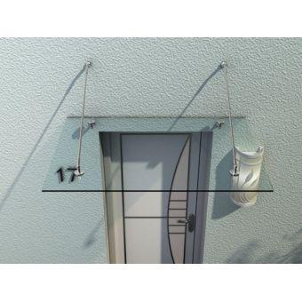 homcom auvent marquise de porte d 39 entr e verre tremp transparent design 150 x 90 cm 53. Black Bedroom Furniture Sets. Home Design Ideas