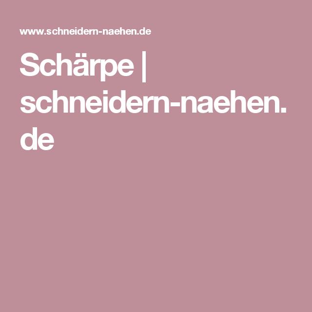 Schärpe | schneidern-naehen.de