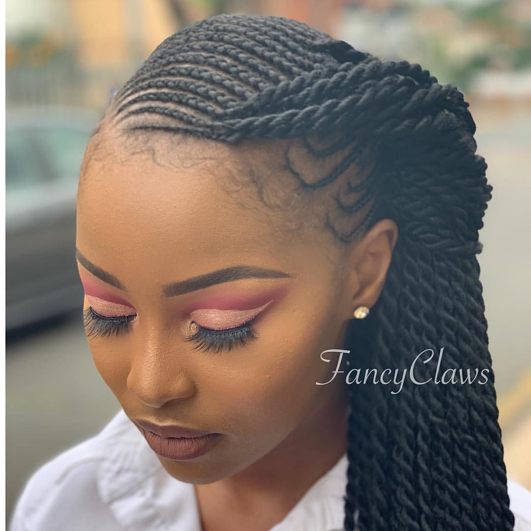 5 108 Likes 32 Comments Fancyclaws Fancy Claws On Instagram Hair And Makeup Done At Fa African Braids Hairstyles Natural Hair Styles Braided Hairstyles