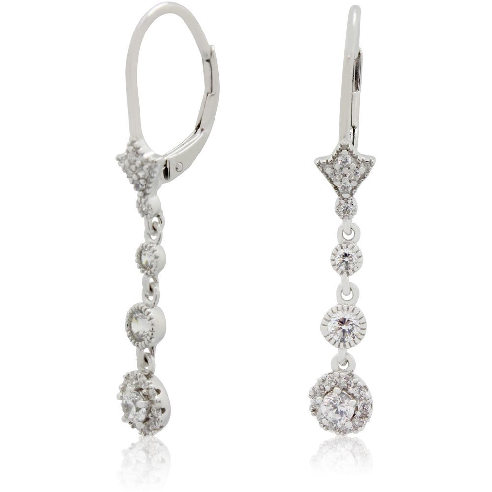 These earrings are beautifully crafted of sterling silver and set ...