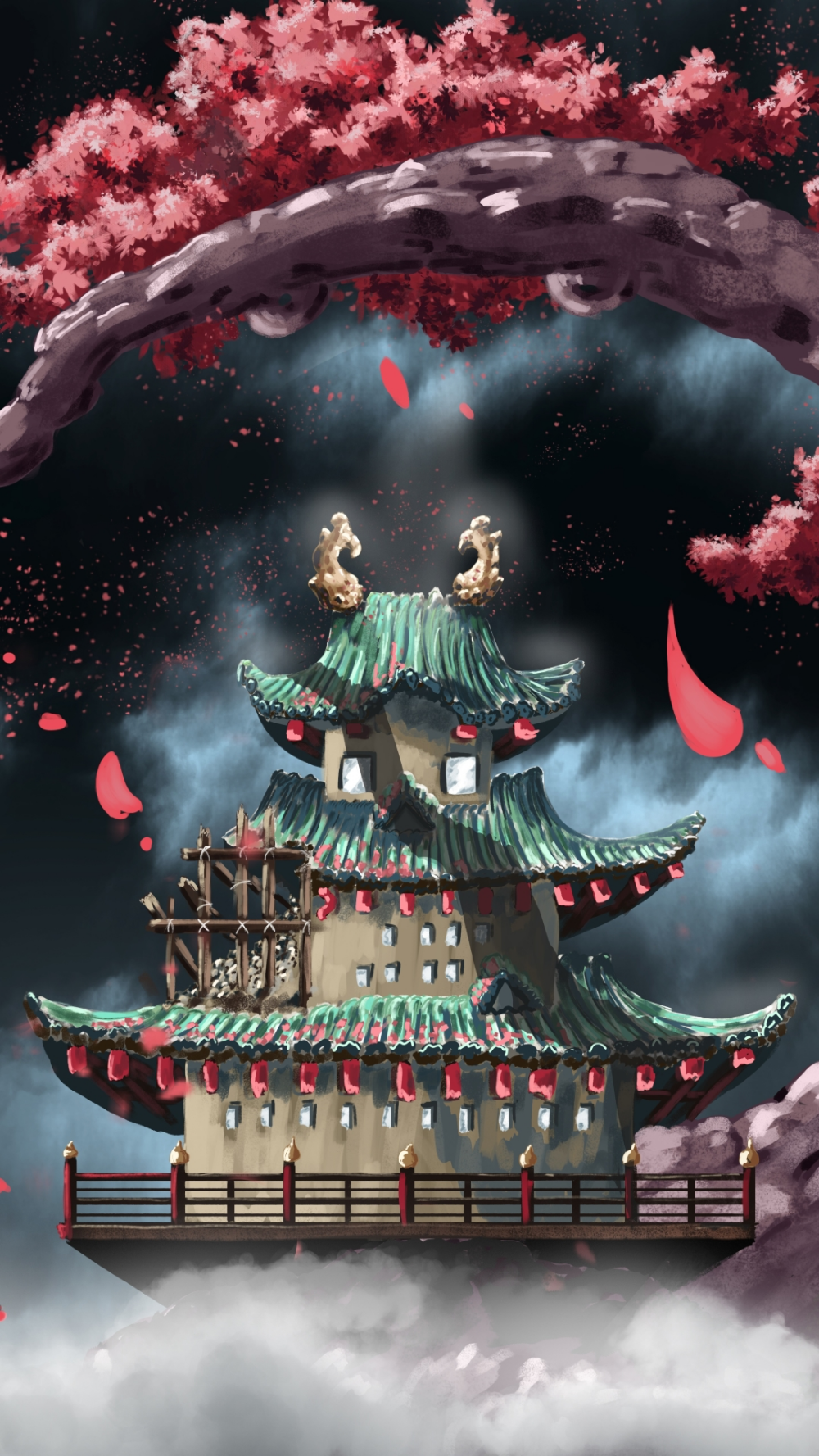 Wano Temple Anime One Piece 1080x1920 Mobile Wallpaper Anime One One Piece Manga One Piece Images