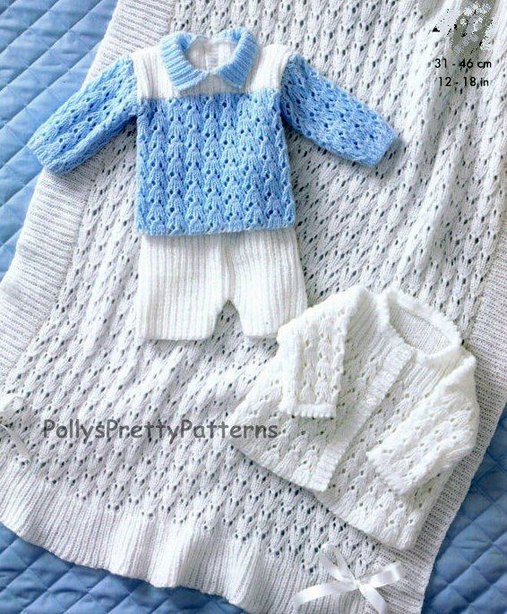 PDF Knitting Pattern for Matinee Jacket, Shawl, Sweater and Shorts ...