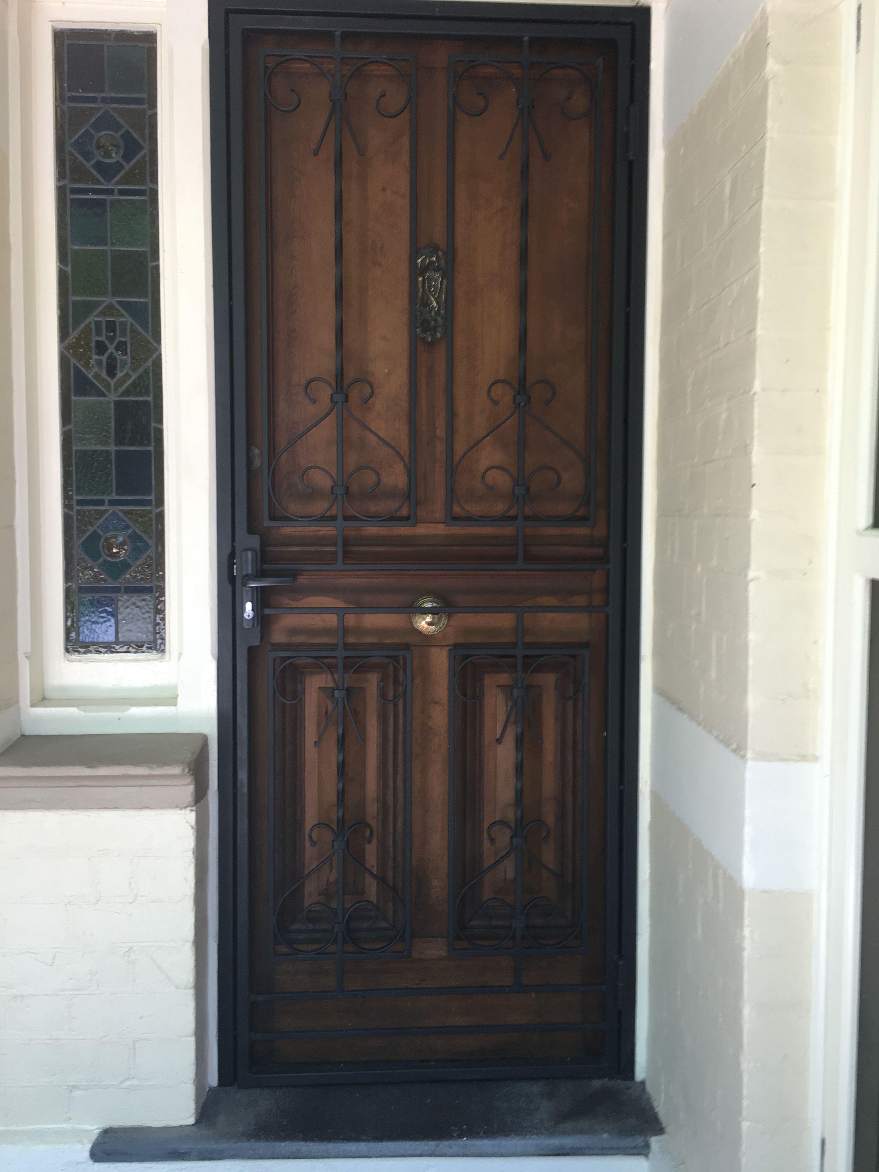 Decorative Security Screen Door Used For Front Door Here But We