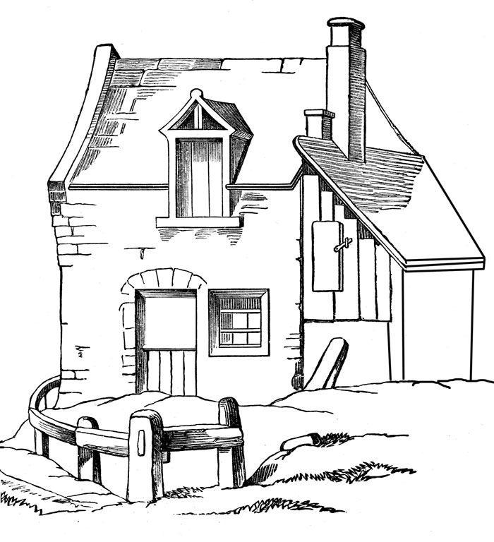 Häuser Ausmalbilder. Malvorlagen Zeichnung druckbare nº 16 ...
