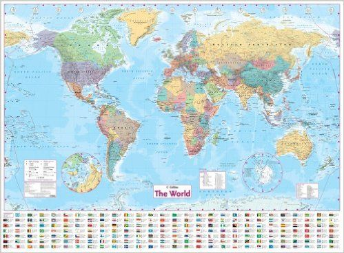 Laminated World Map Collins World Wall Laminated Map (World Map): Amazon.co.uk  Laminated World Map