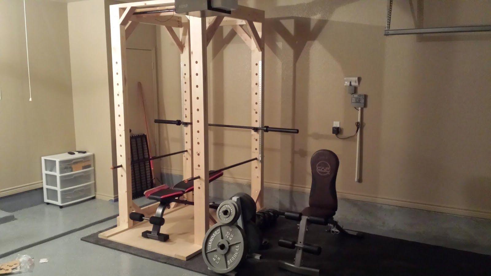 Diy Woodworking Easy To Build Diy Power Rack Squat Rack Diy