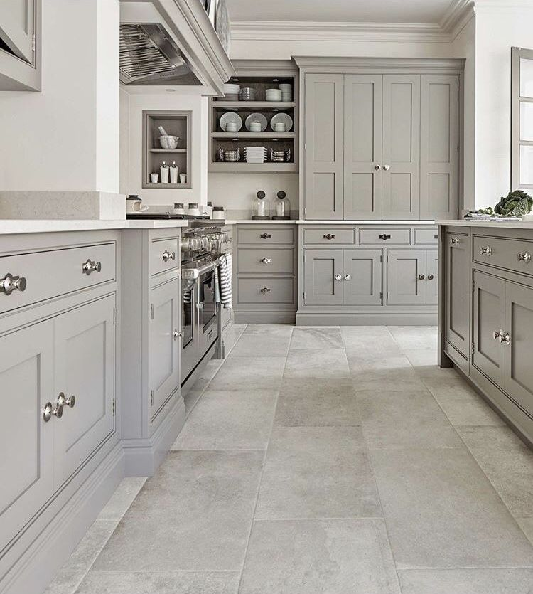 Like The Cabinets On Back Wall. Closed And Open. The Color