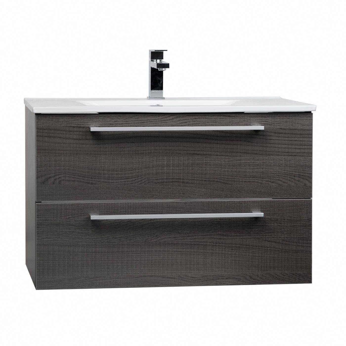Buy inch wallmount modern bathroom vanity set oak rsdmoak
