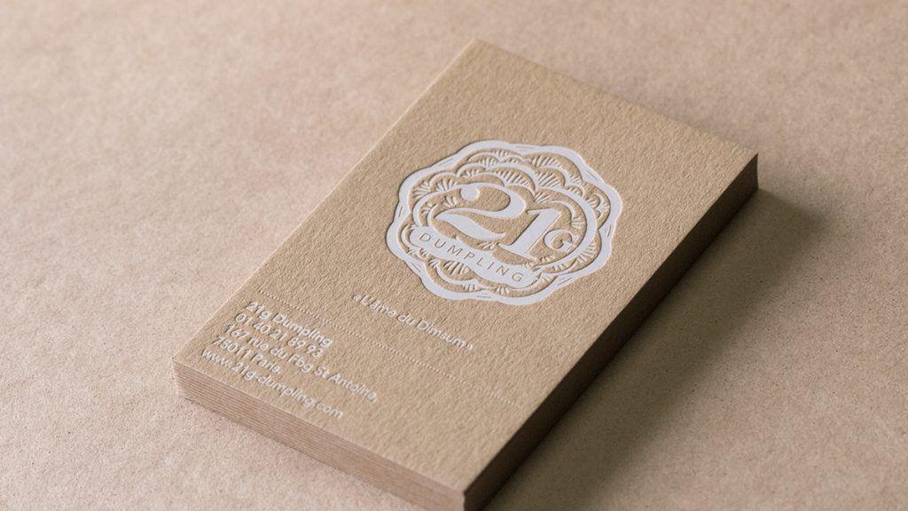 Carte De Visite Kraft Kankyo Business Cards Stamp Cards