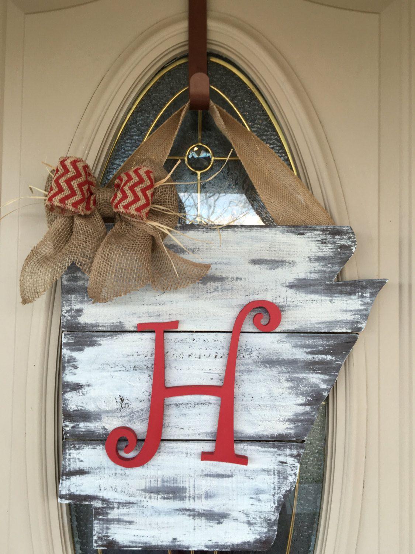 State/Arkansas/Distressed/Monogrammed/Door Decor/Wedding Gift/Rustic/ & State/Arkansas/Distressed/Monogrammed/Door Decor/Wedding Gift/Rustic ...