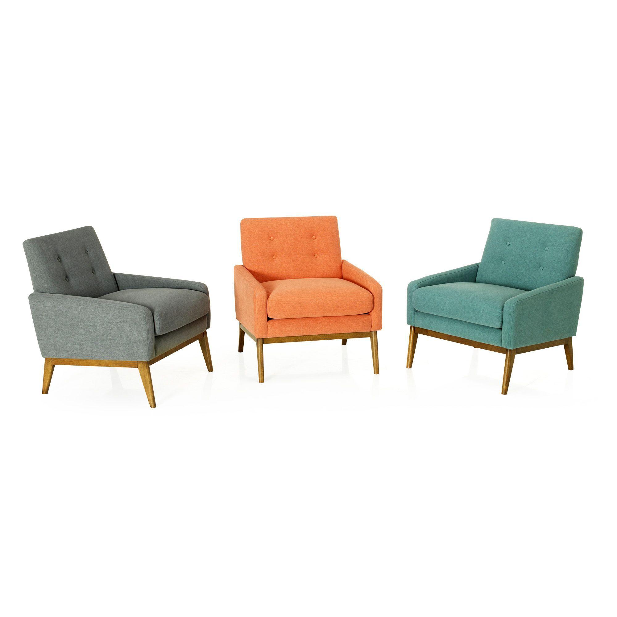 fauteuil vintage en tissu corail sophia fauteuils fauteuils poufs salon salle manger par. Black Bedroom Furniture Sets. Home Design Ideas