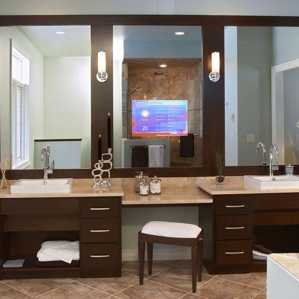 Master Bathroom- Lighting, Mirror, Tv