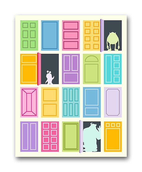 Custom Listing For Pomo311 Monsters Inc Doors Print 16x20 Monsters Inc Doors Monsters Inc Baby Shower Monsters Inc