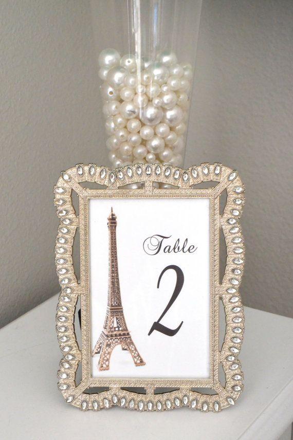 Eiffel tower table number parisians theme decor by for Paris themed decor