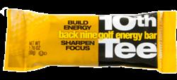 10th Tee Plus Golf Energy Bars Chocolate Peanut Caramel Box Nutrition Bars Energy Nutrition