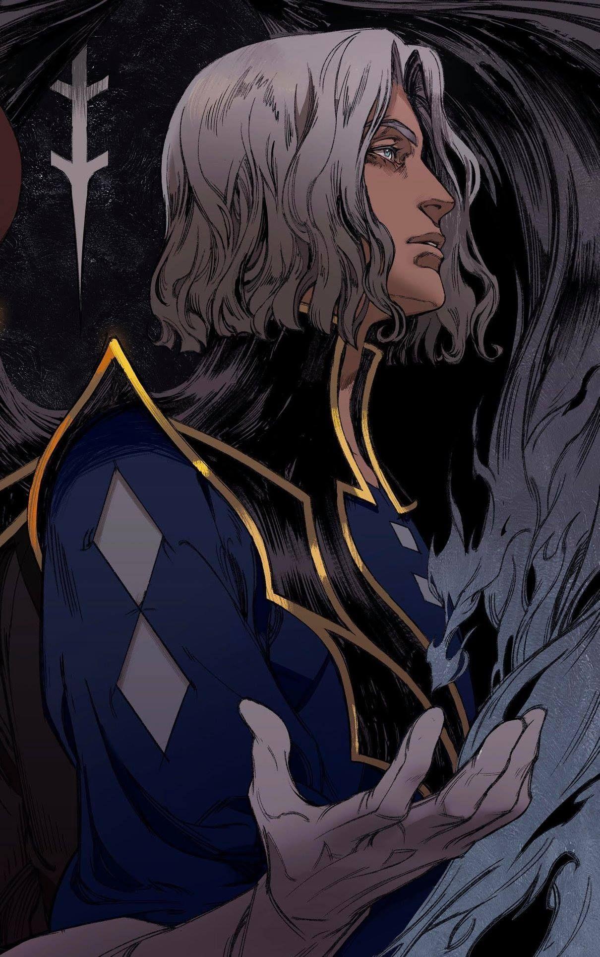 Castlevania hector character art anime anime art