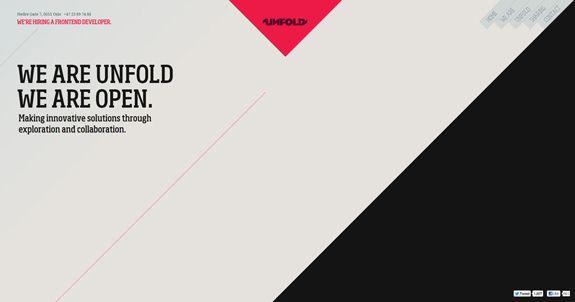 Red White Black Minimal Web Design