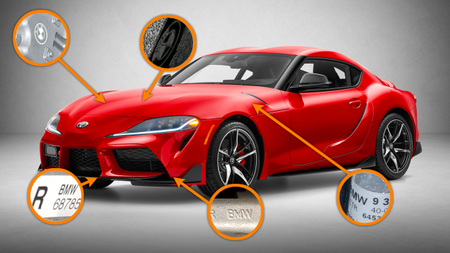 What We Found When We Crawled Under The 2020 Toyota Supra You Ve All Seen The 2020 Toyota Supra S Exterior By Cars Autos Automotiv Toyota Supra Toyota Bmw
