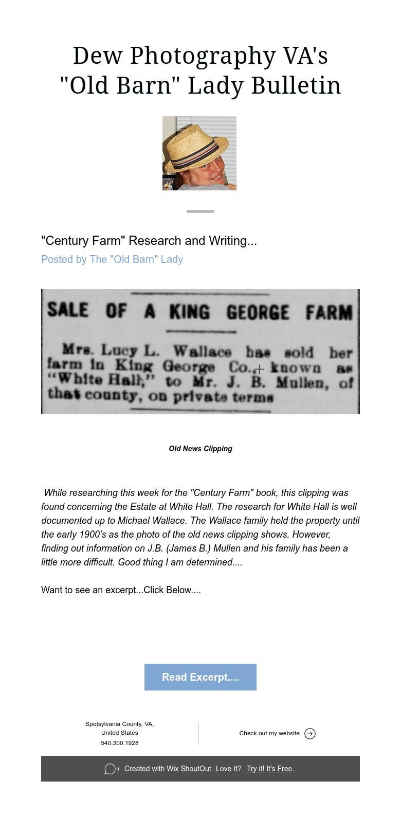 """Old Barn"" Lady Bulletin"