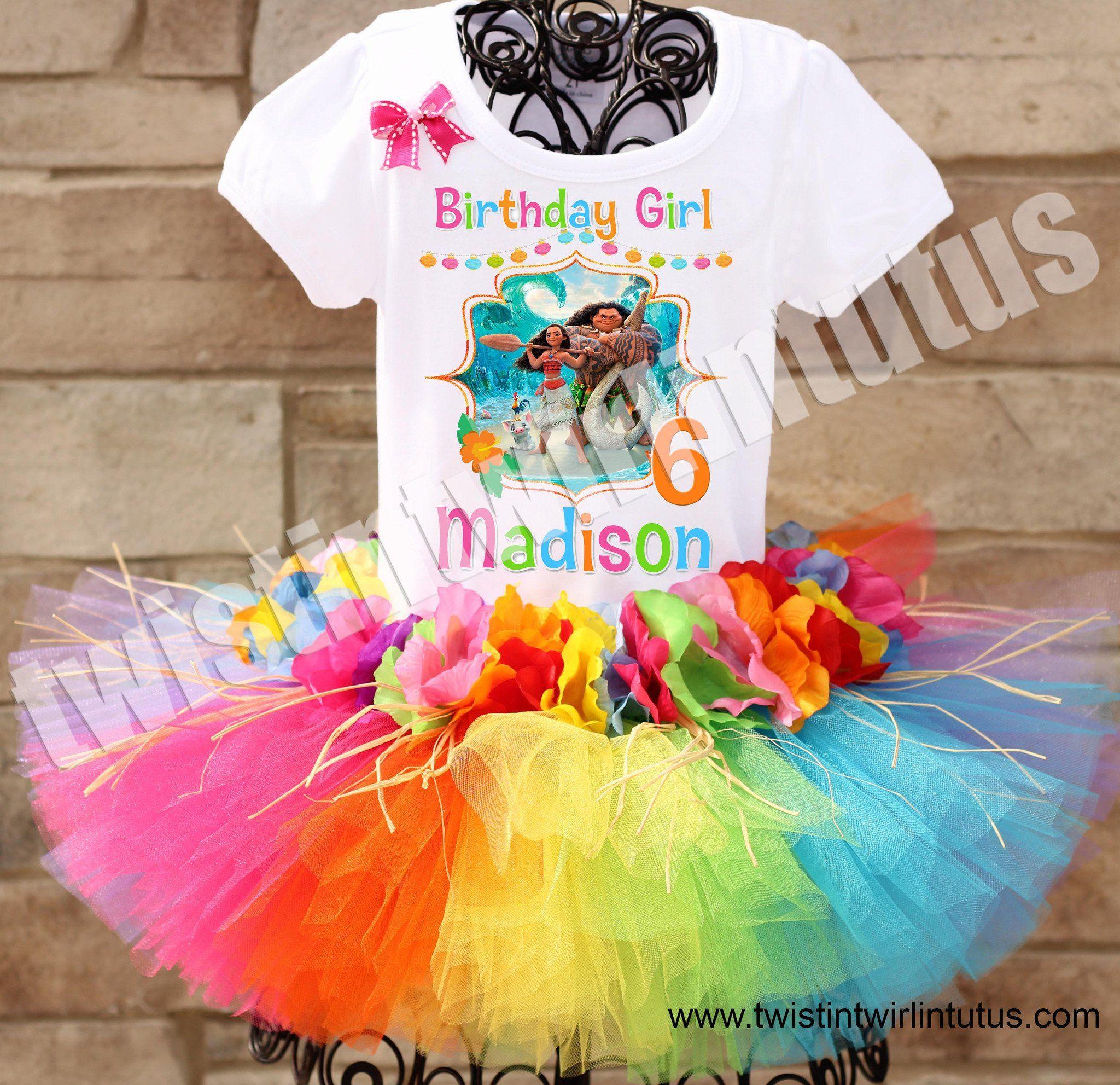 Hawaiian moana birthday tutu outfit moana birthday
