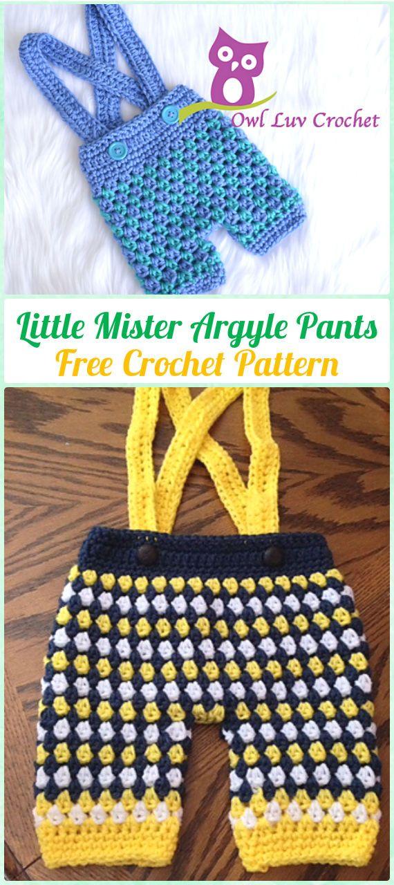 Crochet Little Mister Argyle Pants Free Pattern - Crochet Baby Pants ...