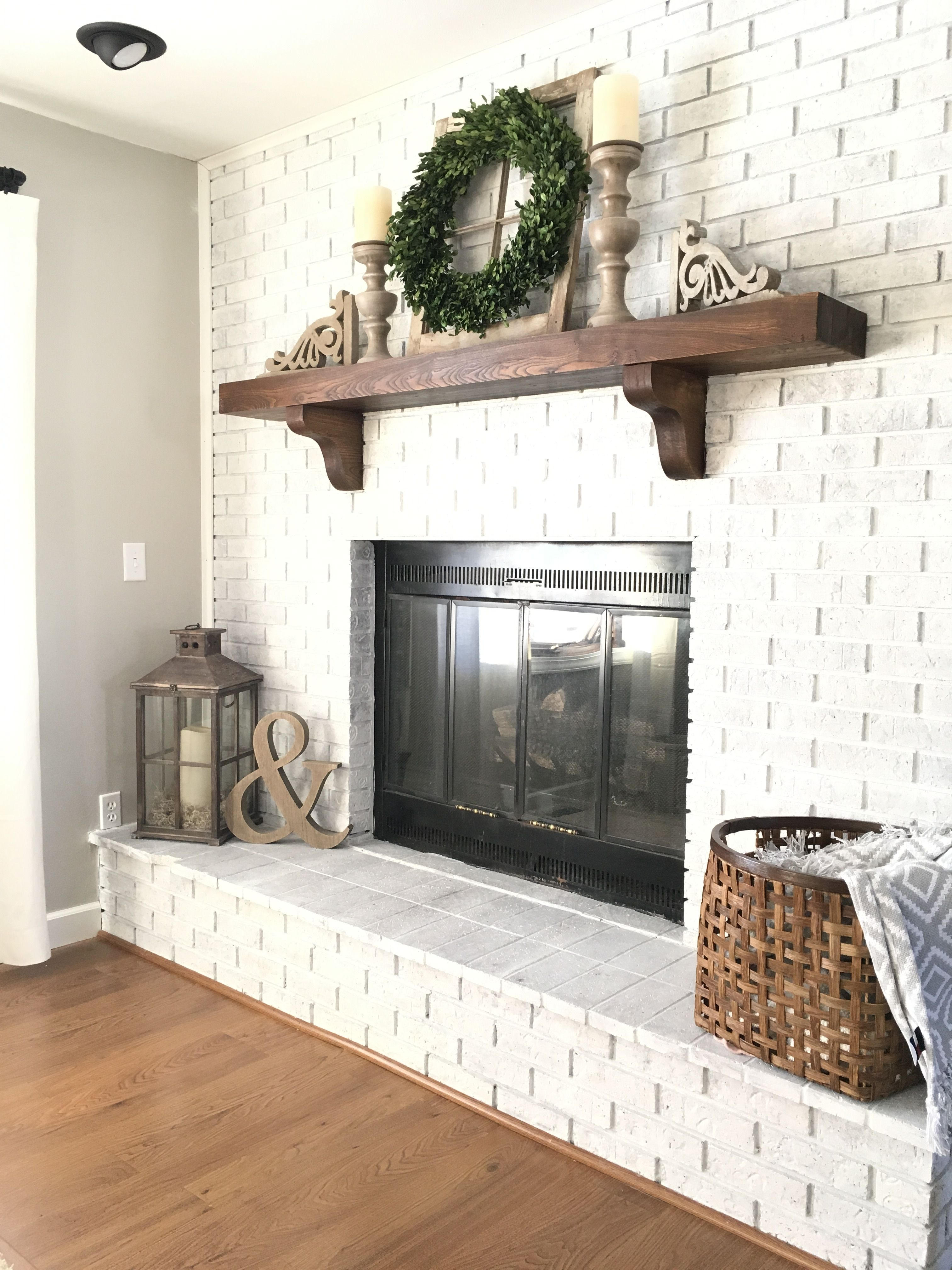 Nice Farmhouse Style Or Rustic Fireplace Mantle Love The