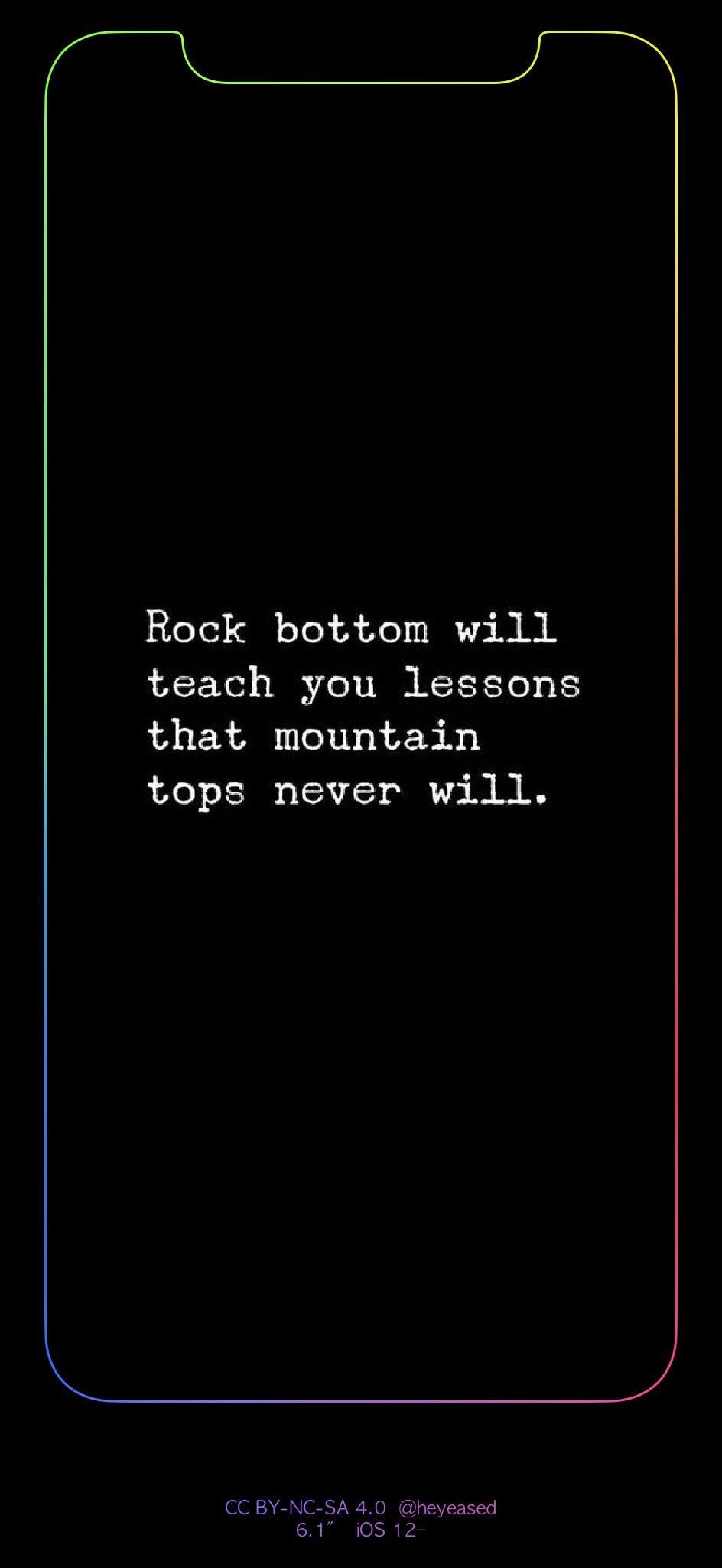 Iphone Xr Quote Wallpaper With A Custom Border Mobile Wallpaper Wallpaper Quotes Quotes Mobile Wallpaper