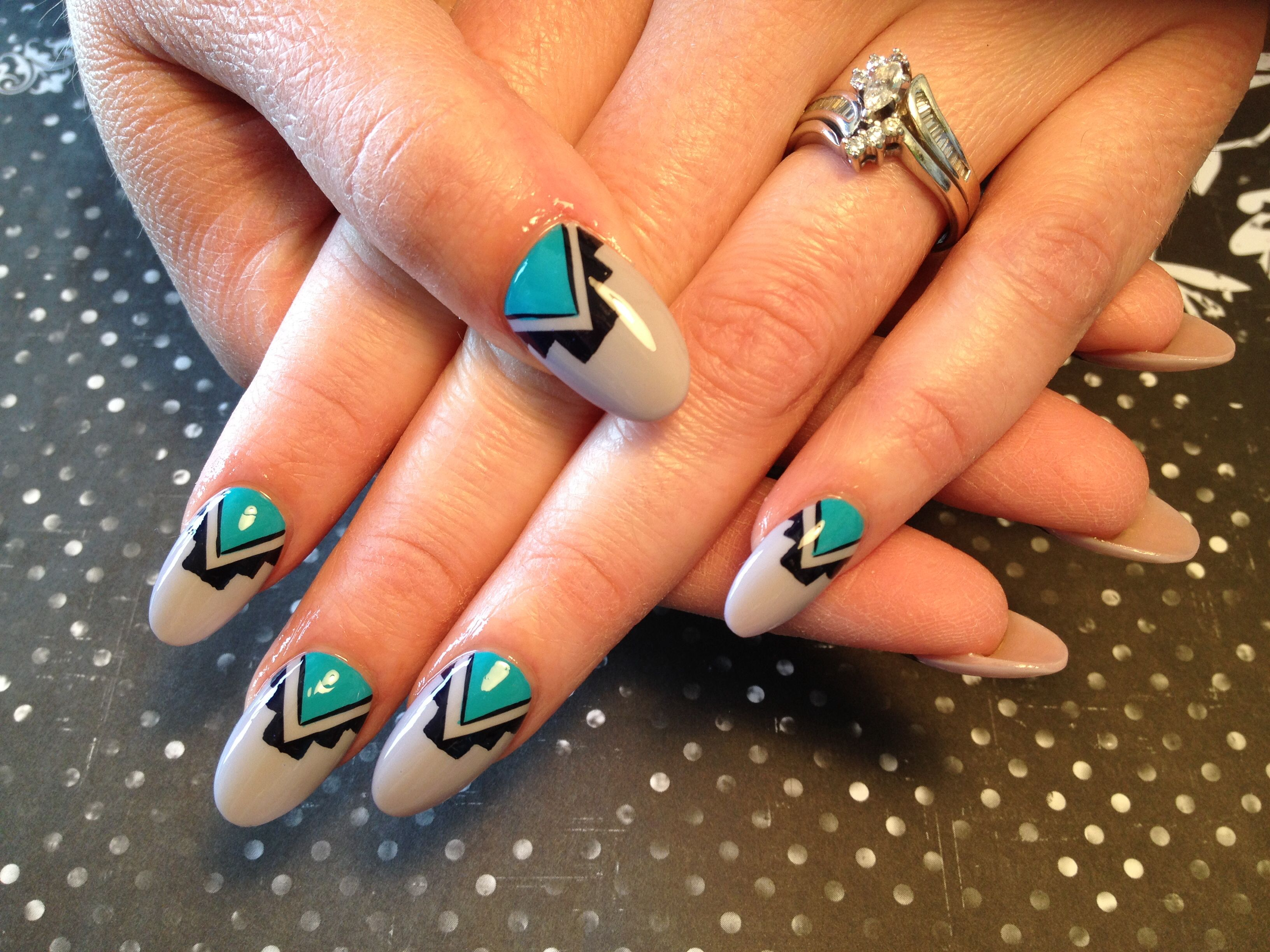 Native American Nail Art Indian Nails Indian Nail Art