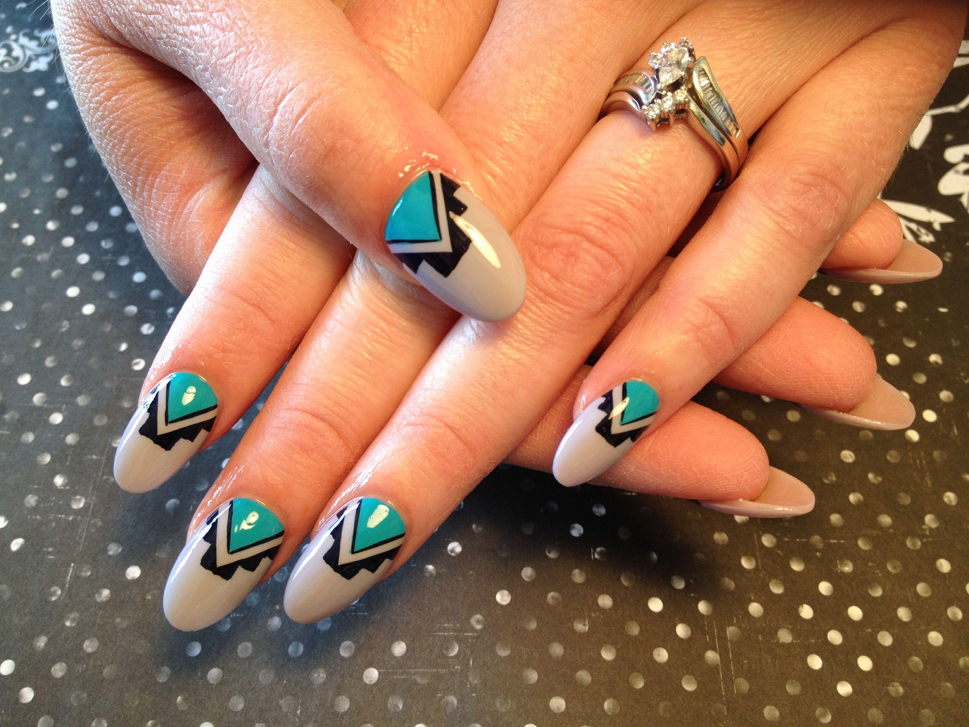 Native American nail art | Redneck Nailz nail art | Pinterest ...