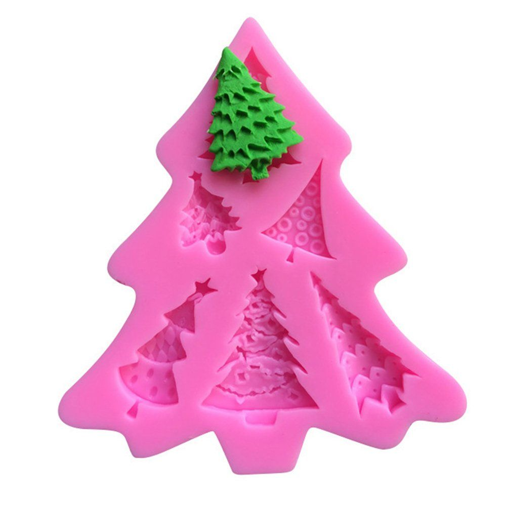 Efivs Arts 6 Christmas Trees Silicone Molds Fondant Mold Sugar Craft Tools And Gum Paste Mold Cake Decorati Fondant Silicone Molds Sugar Craft Crafts
