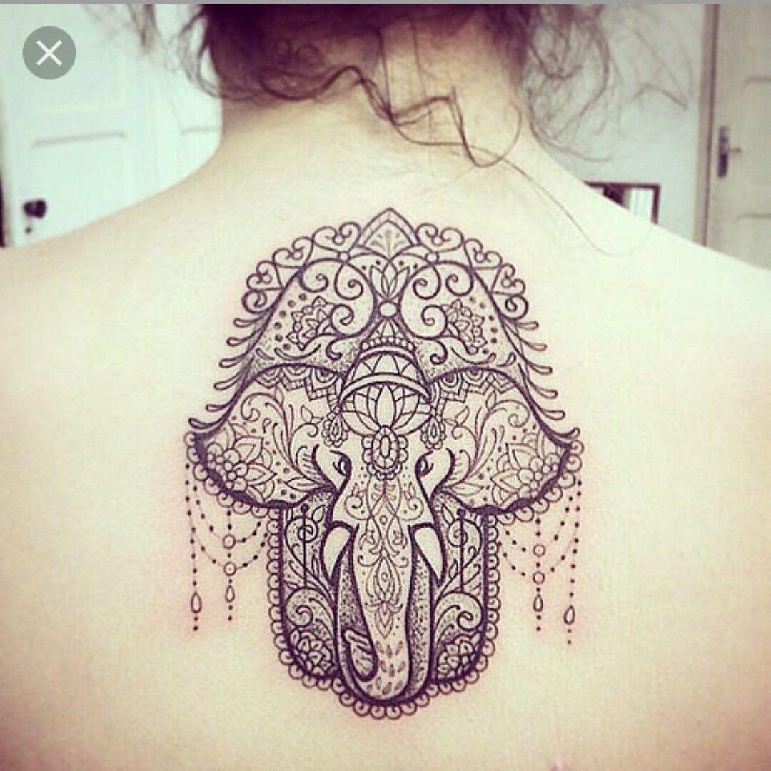 Hand Of Fatimah With Elephant Tattos Hand Of Fatima Pinterest