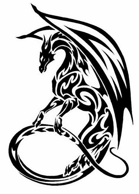 Dragon Tattoo Schablonen