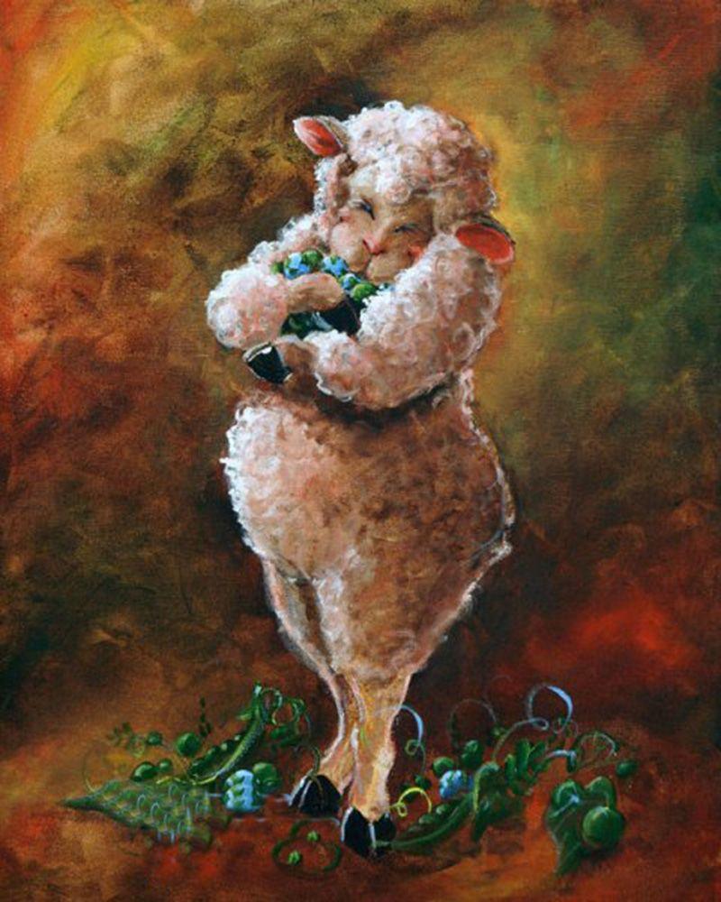 Картинки овец для декупажа
