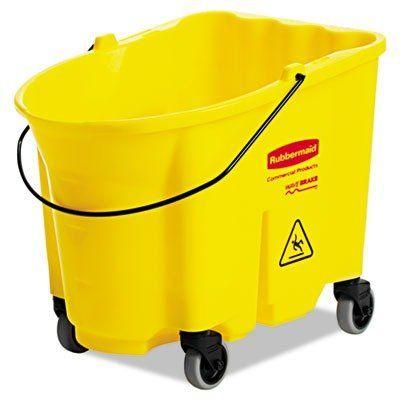 Rubbermaid Fg757000 Yellow 35quart Wavebrake Mopping Bucket With