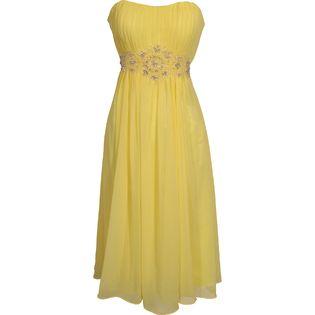 PacificPlex Strapless Chiffon Goddess Gown Prom Dress Formal ...