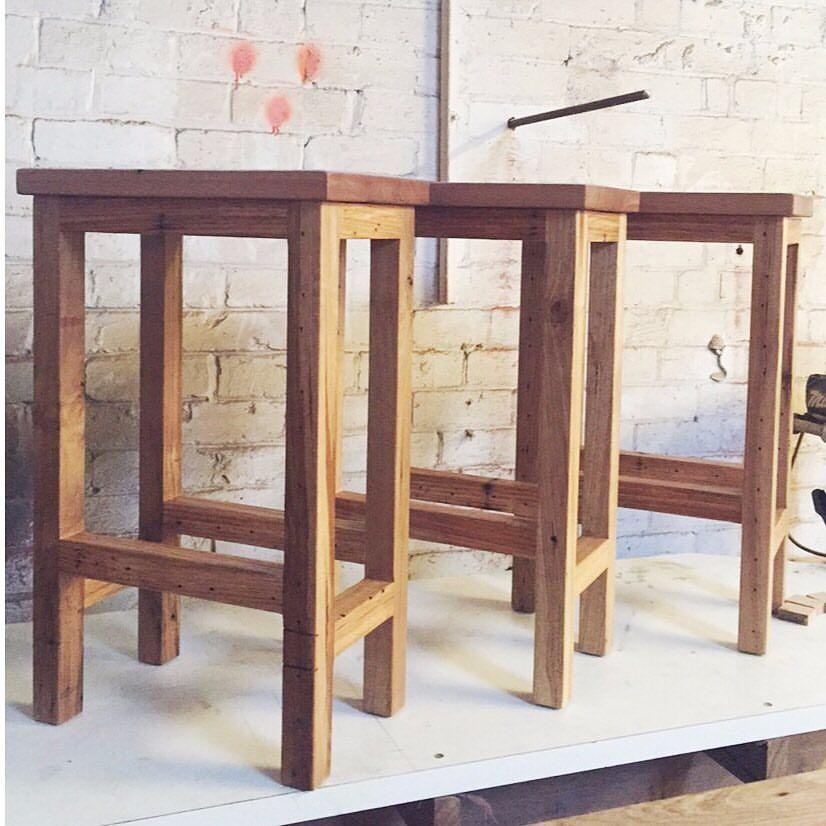 Handmade timber bar stool AUSTRALIAN MADE Kitchen + Dining