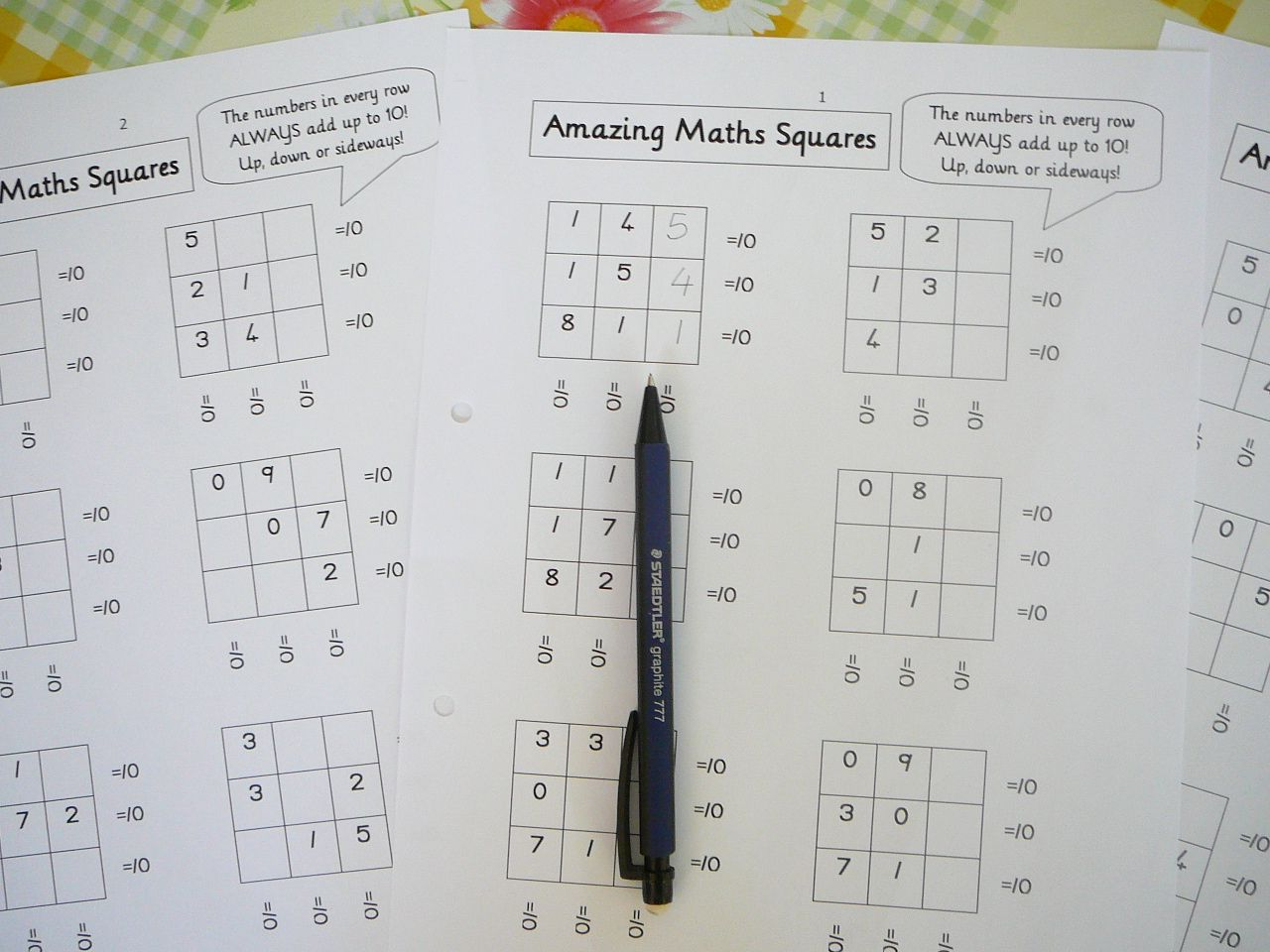 Mental Maths Practice Fun Worksheets