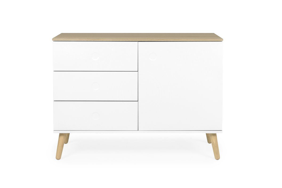 Dot 43 Wide 3 Drawer Server In 2020 Sideboard Designs Drawers Scandinavian Style Sideboard