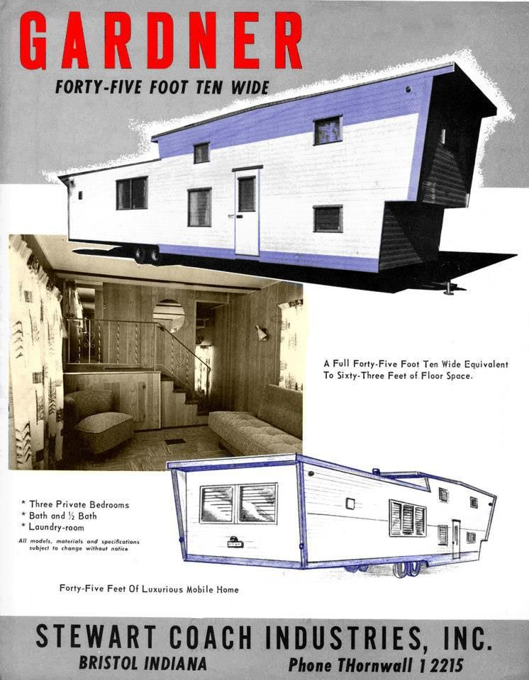 Two Story Mobile Homes - Vintage Advertisments | Vintage trailers ...