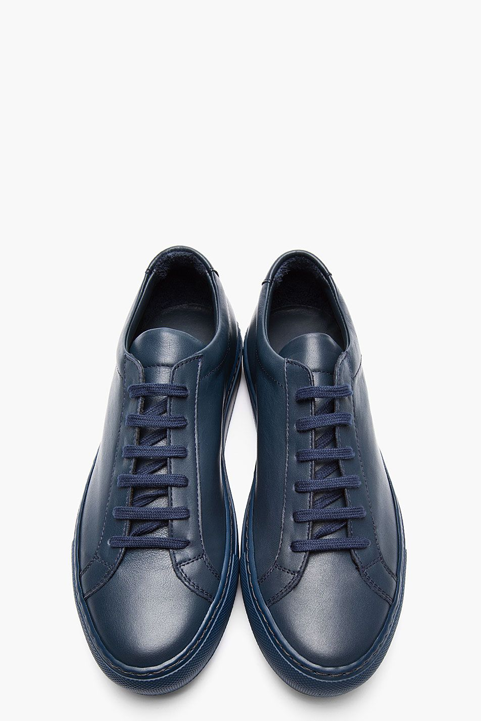 pretty nice c5a46 7dea7 COMMON PROJECTS Navy Leather Achilles Low-Top Sneakers Nike Joggers, Nike  Leggings, Nike