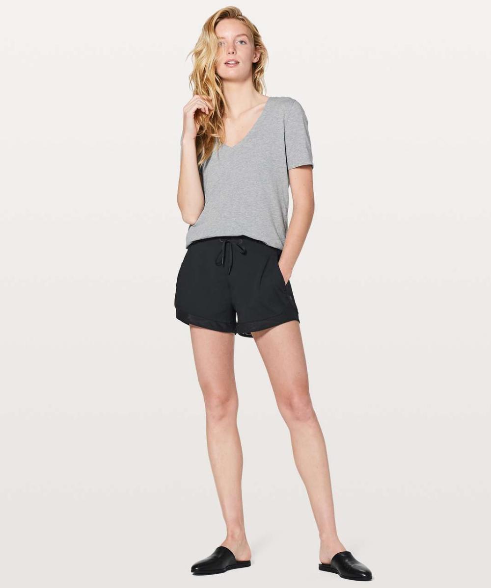 Lululemon Sunsetting Short 3 Black Lulu Fanatics Pants For Women Women Running Women [ 1199 x 1000 Pixel ]