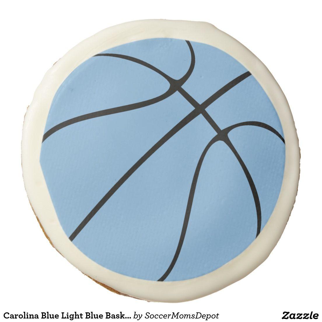 Carolina Blue Light Blue #Basketball Sugar Cookies #tarheels #marchmadness #carolinablue