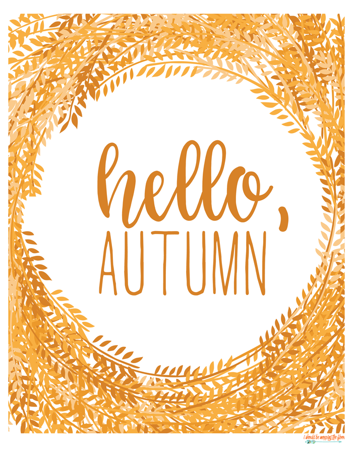 picture relating to Autumn Printable named Hello there, Autumn Totally free Printable Drop Printables Good day