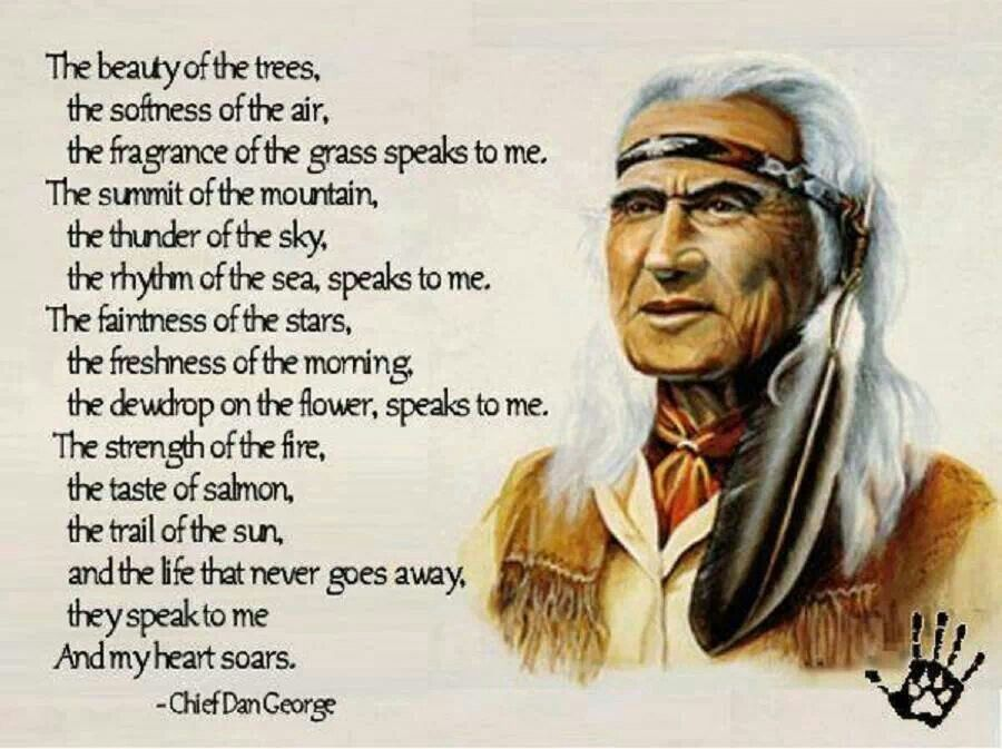 Chief Dan Such BEAUTIFUL WORDS !!!! Native